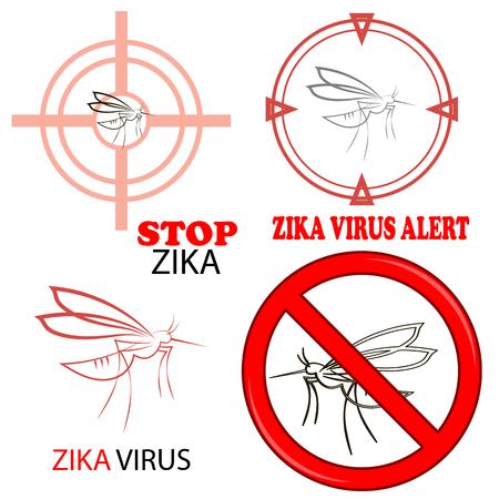 transmitted: Zika Virus Sign Isolated on White Background Stock Photo