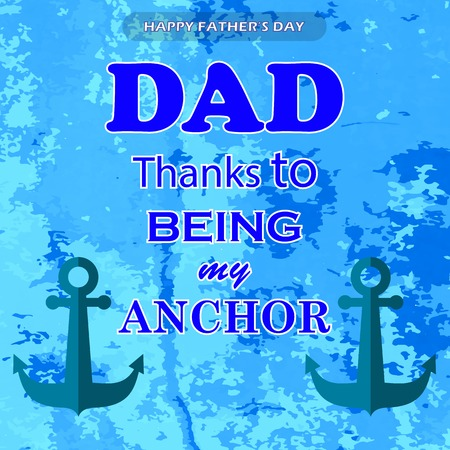 anchor man: Best Dad Poster on Blue Grunge Background. Happy Fathers Day Design