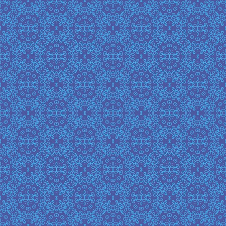 rebirth: Texture on Blue. Element for Design. Ornamental Backdrop. Pattern Fill. Ornate Floral Decor for Wallpaper. Traditional Decor on Background
