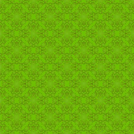 elegant white: SeamlessTexture on Green. Element for Design. Ornamental Backdrop. Pattern Fill. Ornate Floral Decor for Wallpaper. Traditional Decor on Background
