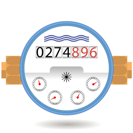 Compteur d'eau Icône isolé sur fond blanc. Concevez pour mesurer l'eau cosumption. Vecteurs