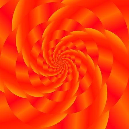 oscillation: Fractal Design. Abstract  Sphere. Red Spiral Background. Fractal Pattern