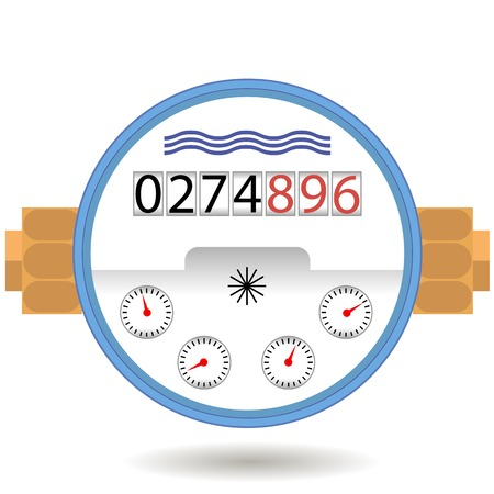 Water Meter Icon Isolated on White Background. Devise for Measuring Water Cosumption.