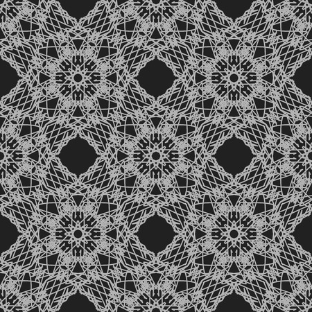 rebirth: Seamless Texture on Grey. Element for Design. Ornamental Backdrop. Pattern Fill. Ornate Floral Decor for Wallpaper. Traditional Decor on Background Stock Photo
