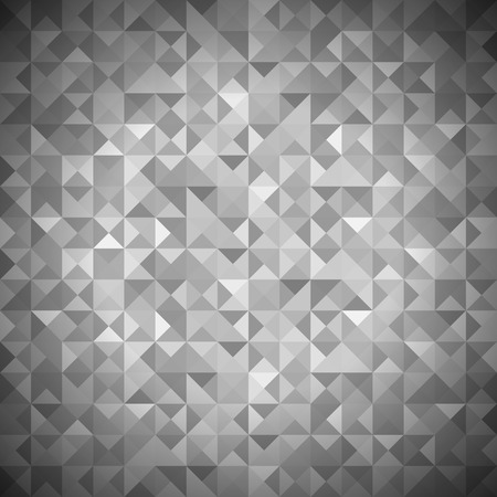 grey pattern: Background with Geometric Shapes, Triangles. Old Mosaic. Grey-Mosaic-Banner. Geometric Hipster Grey Pattern with Place for Your Text. Graphic Template Background Stock Photo