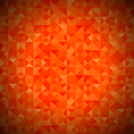 diamonds pattern: Background with Geometric Shapes, Triangles. Old Mosaic. Red-Mosaic-Banner. Geometric Hipster Red Pattern with Place for Your Text. Graphic Template Background Stock Photo