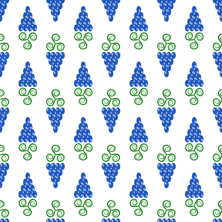 constrictor: Grapes Seamless Pattern. Vine Background. Fruits and Vegetables Texture. Silhouettes of Grapes.