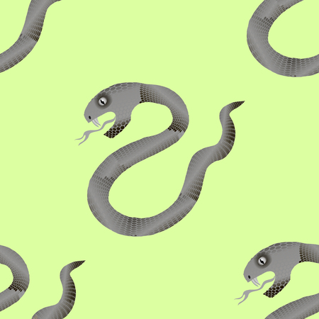 constrictor: Grey Snake Seamless Background. Animal Pattern. Attack Crawling  Danger Predator Illustration