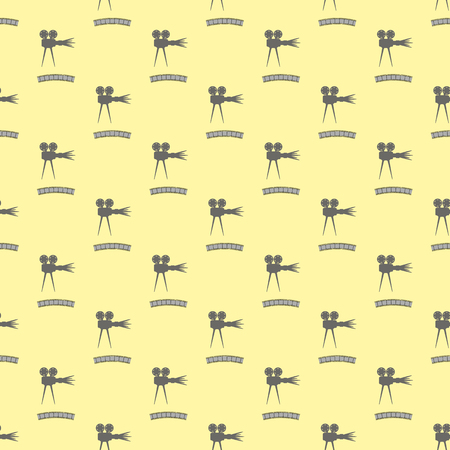 old movie: Seamless Retro Cinema Pattern. Old Movie Projector Film Strip Background