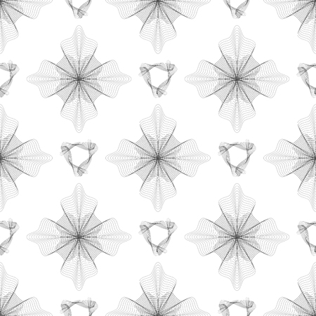 escarapelas: Seamless Pattern. Set of Rosettes Isolated on White Background Vectores