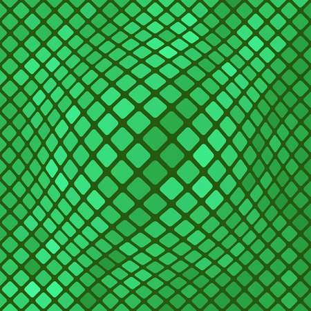 harmonic: Green Diagonal Square Pattern. Abstract Green Square Background