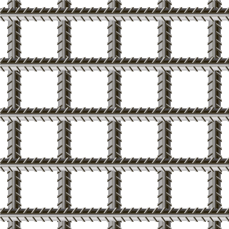welded: Rebars, Reinforcement Steel Isolated on White Background. Construction Metal Armature. Stock Photo