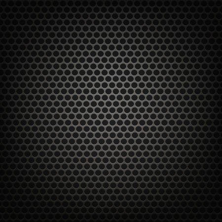 perforated: Metallic Grid Perforated Background. Grey Metal Circle Pattern