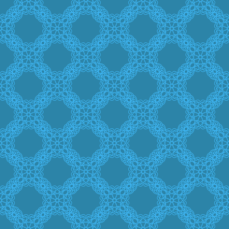 rebirth: Seamless Texture on Blue. Element for Design. Ornamental Backdrop. Pattern Fill. Ornate Floral Decor for Wallpaper. Traditional Decor on Background Stock Photo