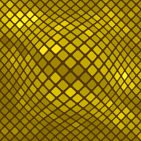 polychromatic: Yellow Square Pattern. Abstract Yellow Square Background Stock Photo