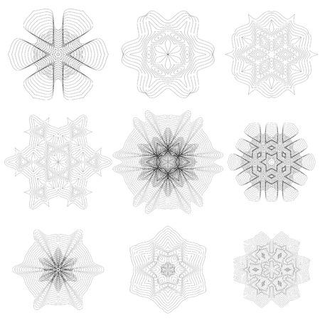 rosettes: Set of Rosettes Isolated on White Background