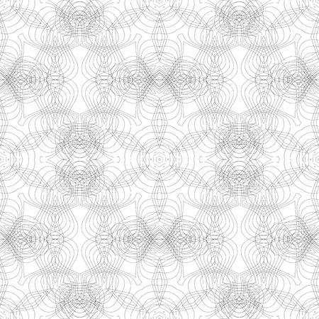 Textura sin fisuras. Elemento para el diseño. Telón de fondo ornamental. Patrón de relleno. Adornado de la decoración floral para el fondo de pantalla. La decoración tradicional en el fondo blanco