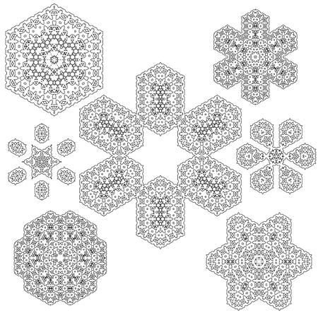 escarapelas: Set of Rosettes Isolated on White Background