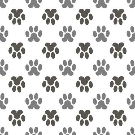 evidences: Seamless Cat Animal Paw Pattern. Print of Paw Background