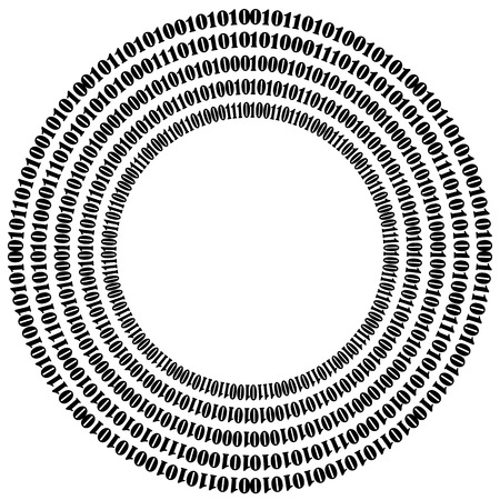 decryption: Binary Code Background. Numbers Concept. Algorithm, Data Code, Decryption and Encoding Illustration