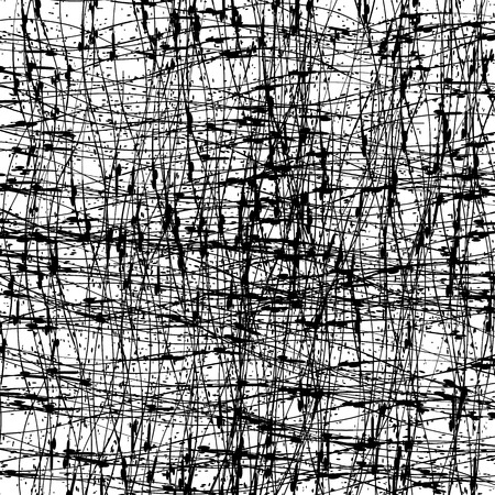 imprecise: Abstract Grunge Texture. Black Ink Background. Dirty Monochrome Pattern. Brush Painted Design Element Stock Photo