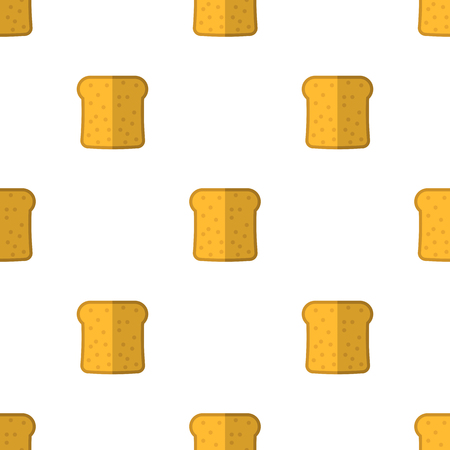 homemade bread: Bakery Seamless Pattern. Food Background. Fresh Baked Products