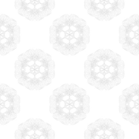 escarapelas: Seamless Pattern. Set of Rosettes Isolated on White Background Foto de archivo