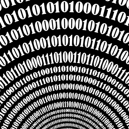 encoding: Binary Code Background. Numbers Concept. Algorithm, Data Code, Decryption and Encoding Illustration