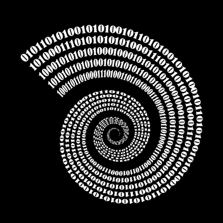 Binary Code Background. Numbers Concept. Algorithm, Data Code, Decryption and Encoding Illustration