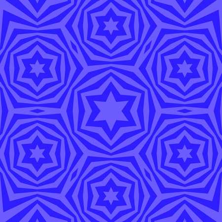 hannukah: Geometric David Star Background. Ornamental Blue Pattern