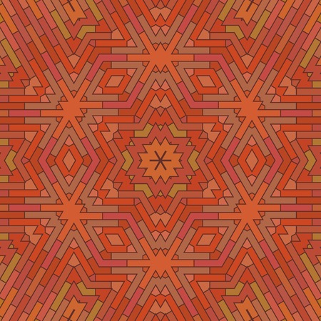 red brick: Ornamental Red Brick Background. Textured Stone Pattern Illustration