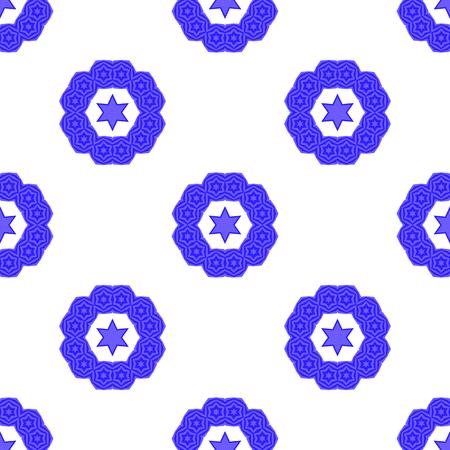jewish star: Blue David Star  Seamless Background. Jewish Symbol of Religion