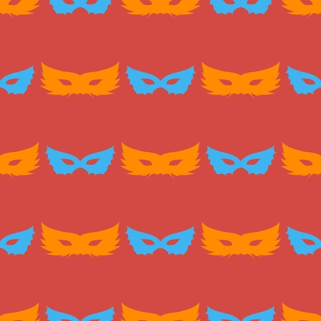 masquerade masks: Silhouette of Masks Seamless Pattern. Symbol of Masquerade Illustration