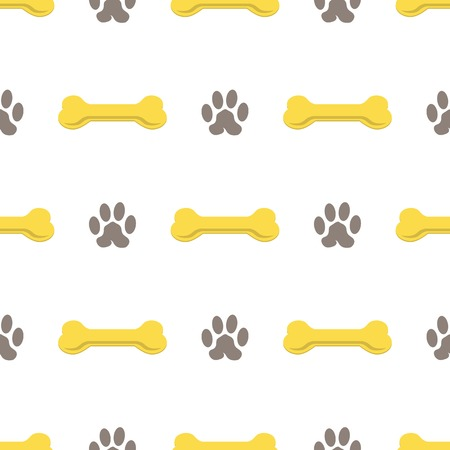 foodstuff: Set of Yellow Bones Isolated on White Background. Seamless Bones for Dog Pattern