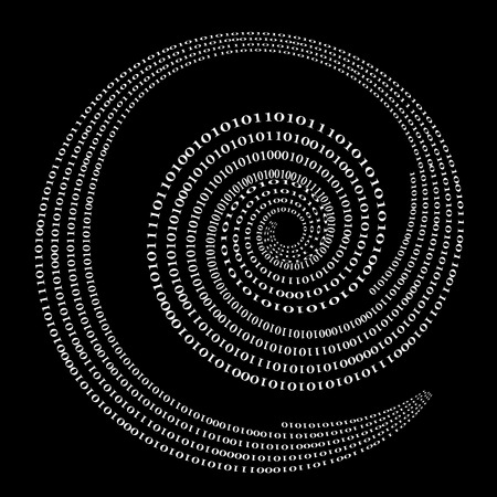 decryption: Binary Code Background. Numbers Concept. Algorithm, Data Code, Decryption and Encoding Stock Photo