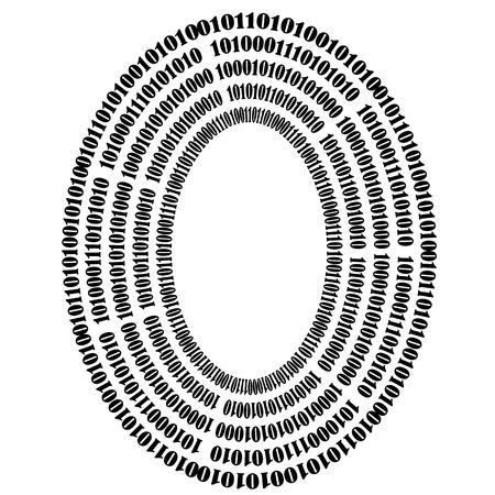 encoding: Binary Code Background. Numbers Concept. Algorithm, Data Code, Decryption and Encoding Stock Photo