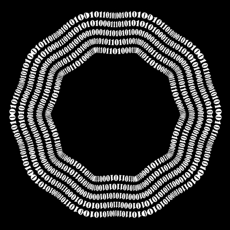 numbers background: Binary Code Background. Numbers Concept. Algorithm, Data Code, Decryption and Encoding Stock Photo