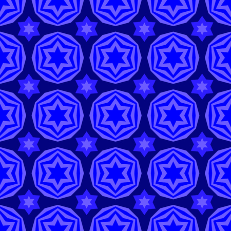 yiddish: Blue David Star Seamless Background. Jewish Symbol of Religion