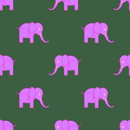 pink elephant: Big Pink Elephant Seamless Pattern. Zoo Animal Background. Illustration