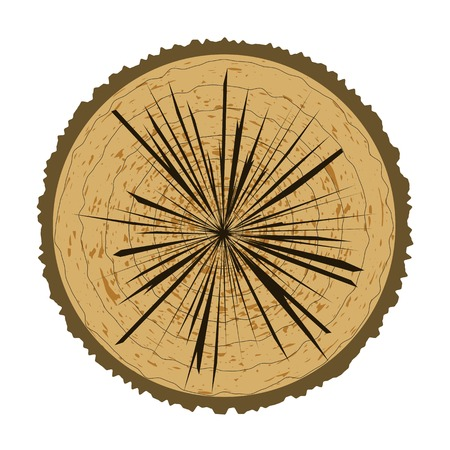 logging: Tree Rings Background and Saw Cut Tree Trunk. Wood Icon.