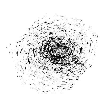 grune: Grunge Ink Background. Textured Black Splatters. Dust Overlay Distress Grain. Grune Blob Pattern Stock Photo