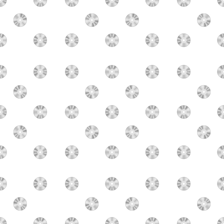 compact disc: Compact Disc Seamless Pattern on White Background