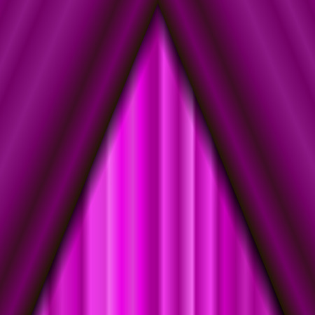sipario chiuso: Cinema Closed Pink Curtain. Pink Textile Pattern. Cinema Stage.