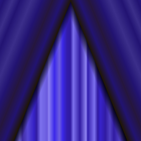 sipario chiuso: Cinema Closed Blue Curtain. Blue Textile Pattern. Cinema Stage. Vettoriali