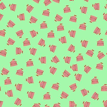 excite: Circus Icon Seamless Pattern on Green Background
