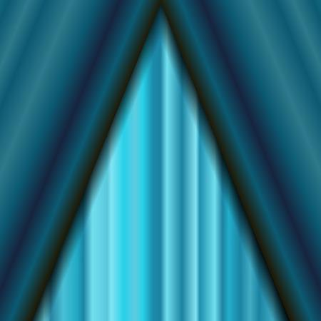 sipario chiuso: Cinema chiusa Azure Curtain. Motivo ornamentale Materiale tessile Azure. Cinema Stage.