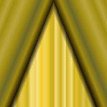 sipario chiuso: Cinema chiuso tenda gialla. Motivo ornamentale Materiale tessile giallo. Cinema Stage.