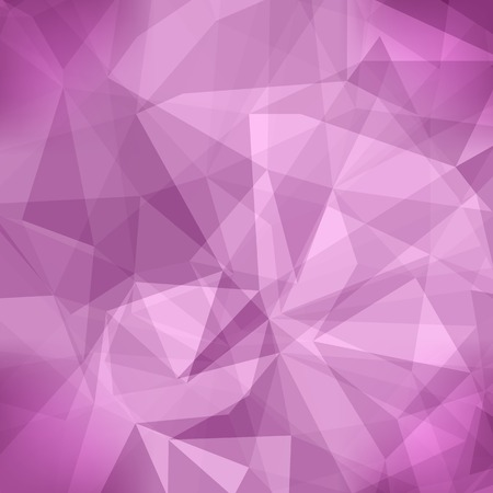 Pink Light Polygonal Mosaic Background.  Business Design Templates. Triangular Geometric Pattern