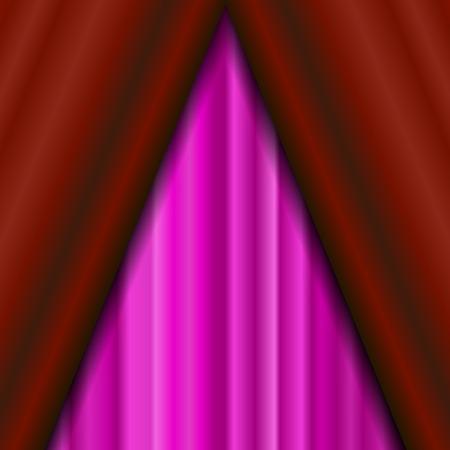 sipario chiuso: Cinema Chiuso il sipario rosa. Motivo ornamentale Materiale tessile Rosa. Cinema Stage.