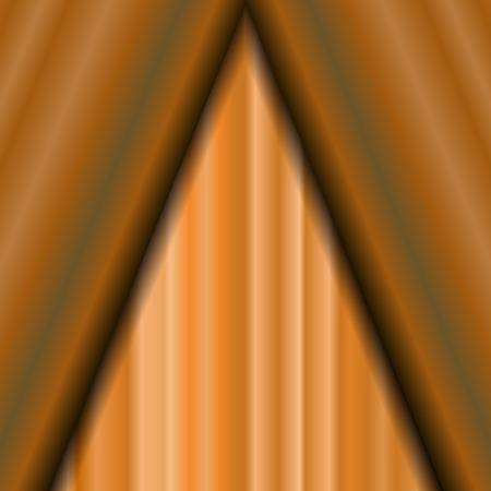 sipario chiuso: Cinema Closed Orange Curtain. Orange Textile Pattern. Cinema Stage.